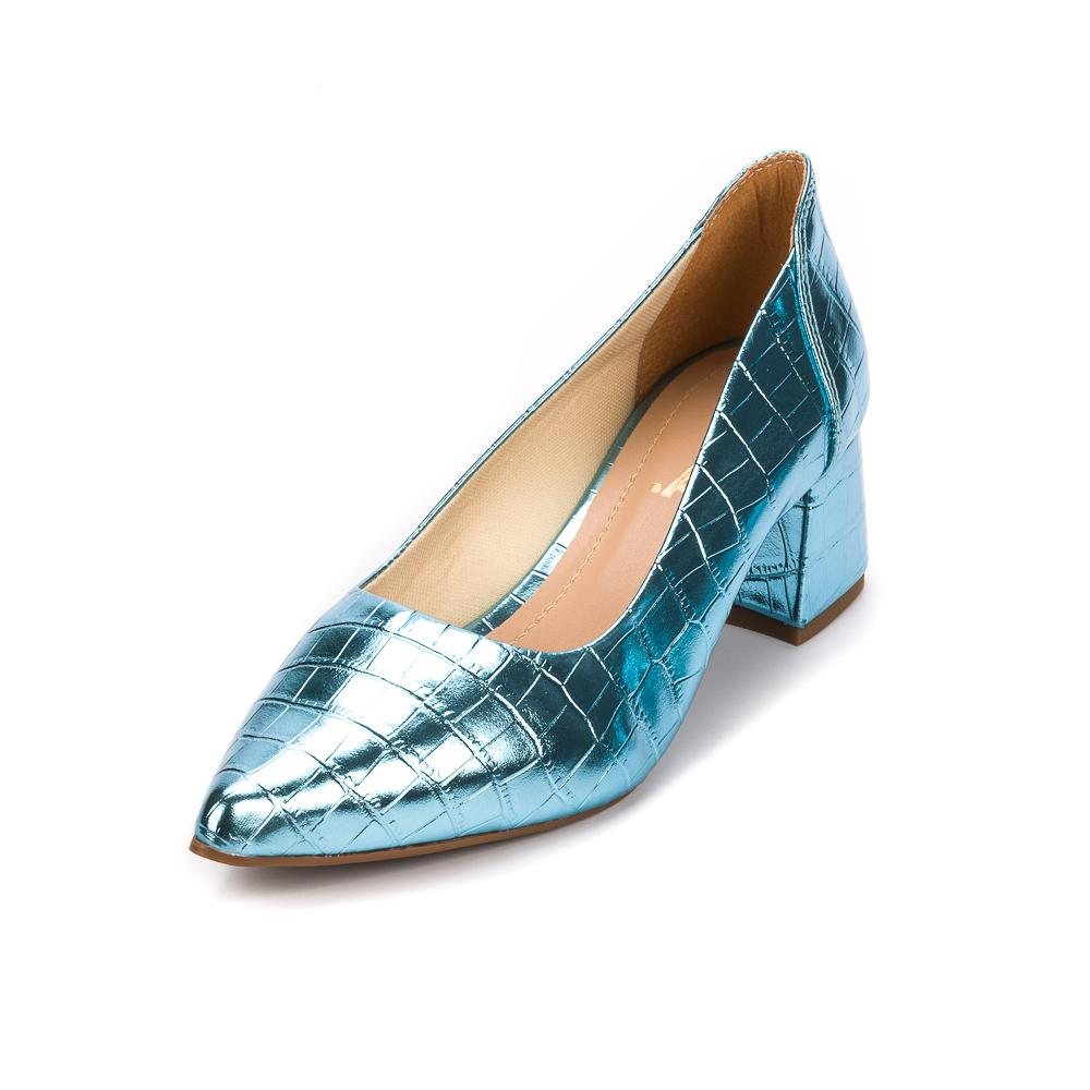 Scarpin Metalizado azul| D-47.000-44