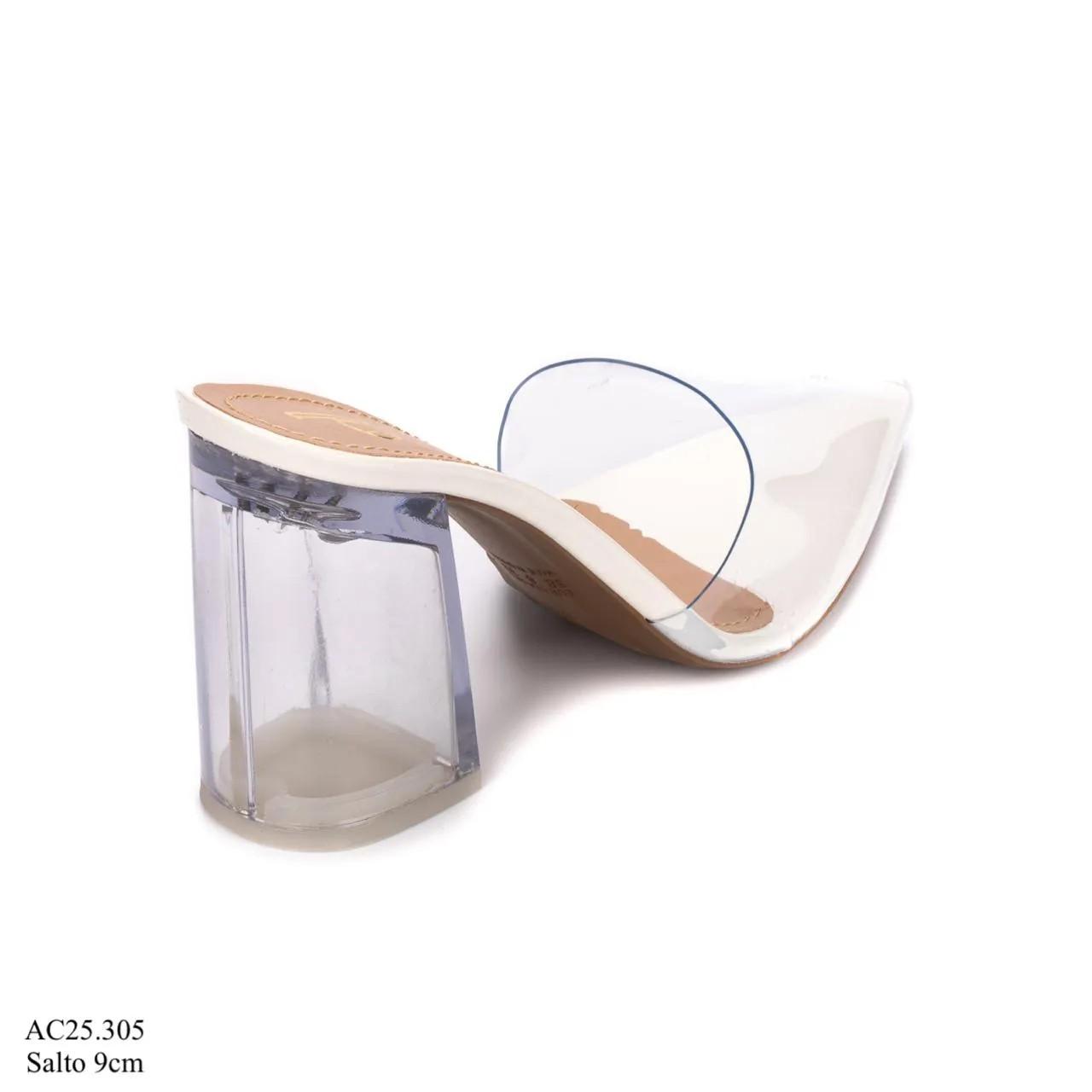 Scarpin Mule Branco  D-25.305