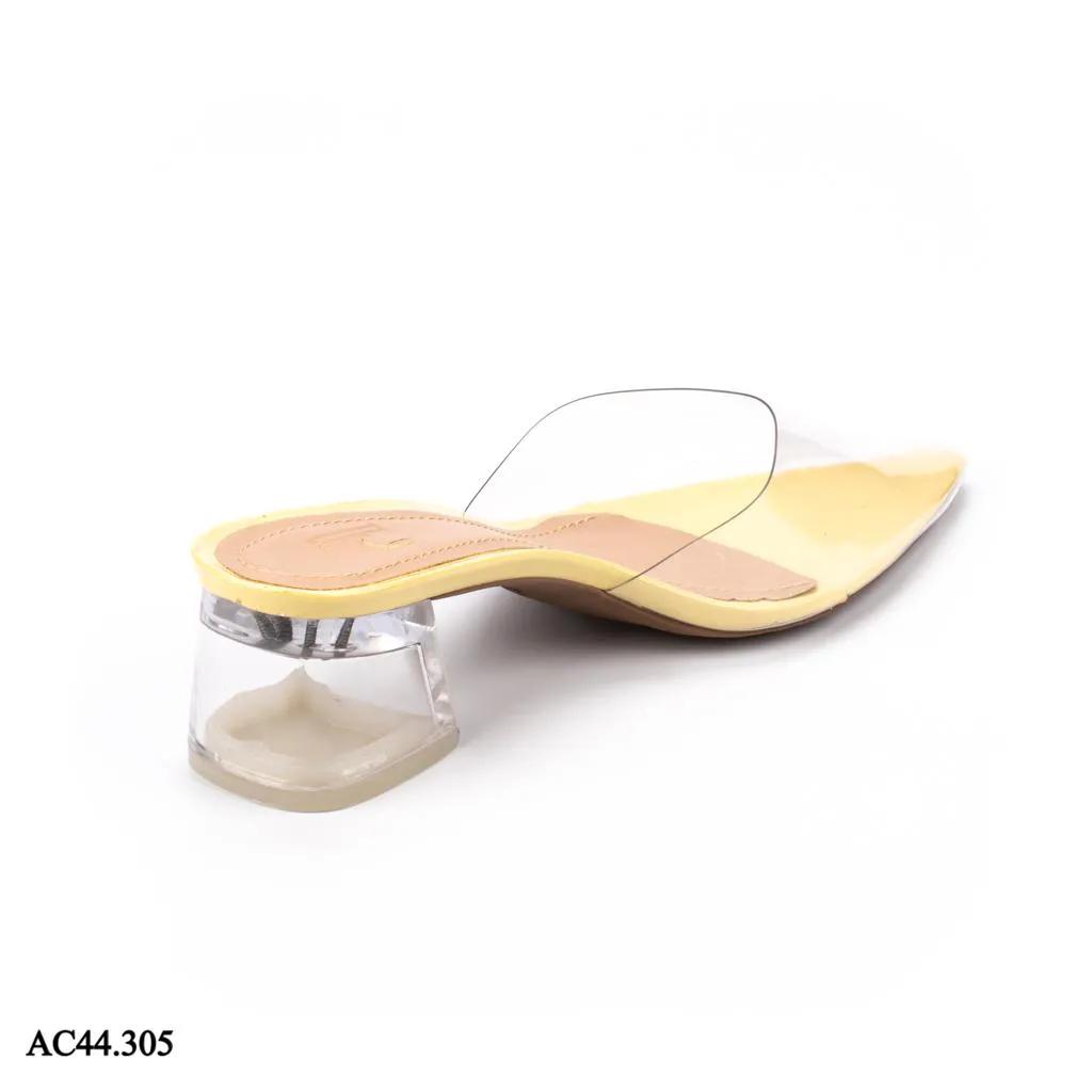 Scarpin Mule Salto Cristal VERNIZ MELÃO| AC44.305
