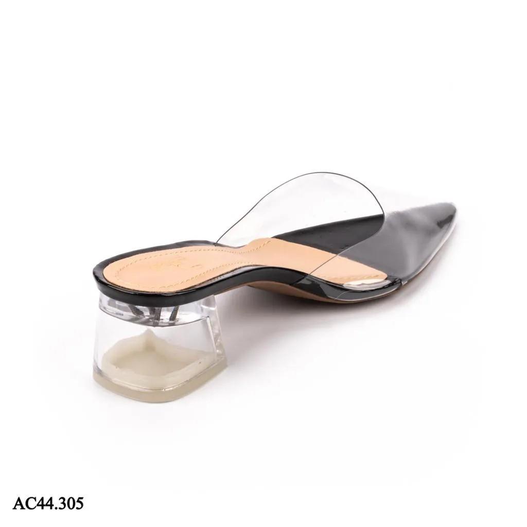 Scarpin Mule Salto Cristal VERNIZ PRETO| AC44.305