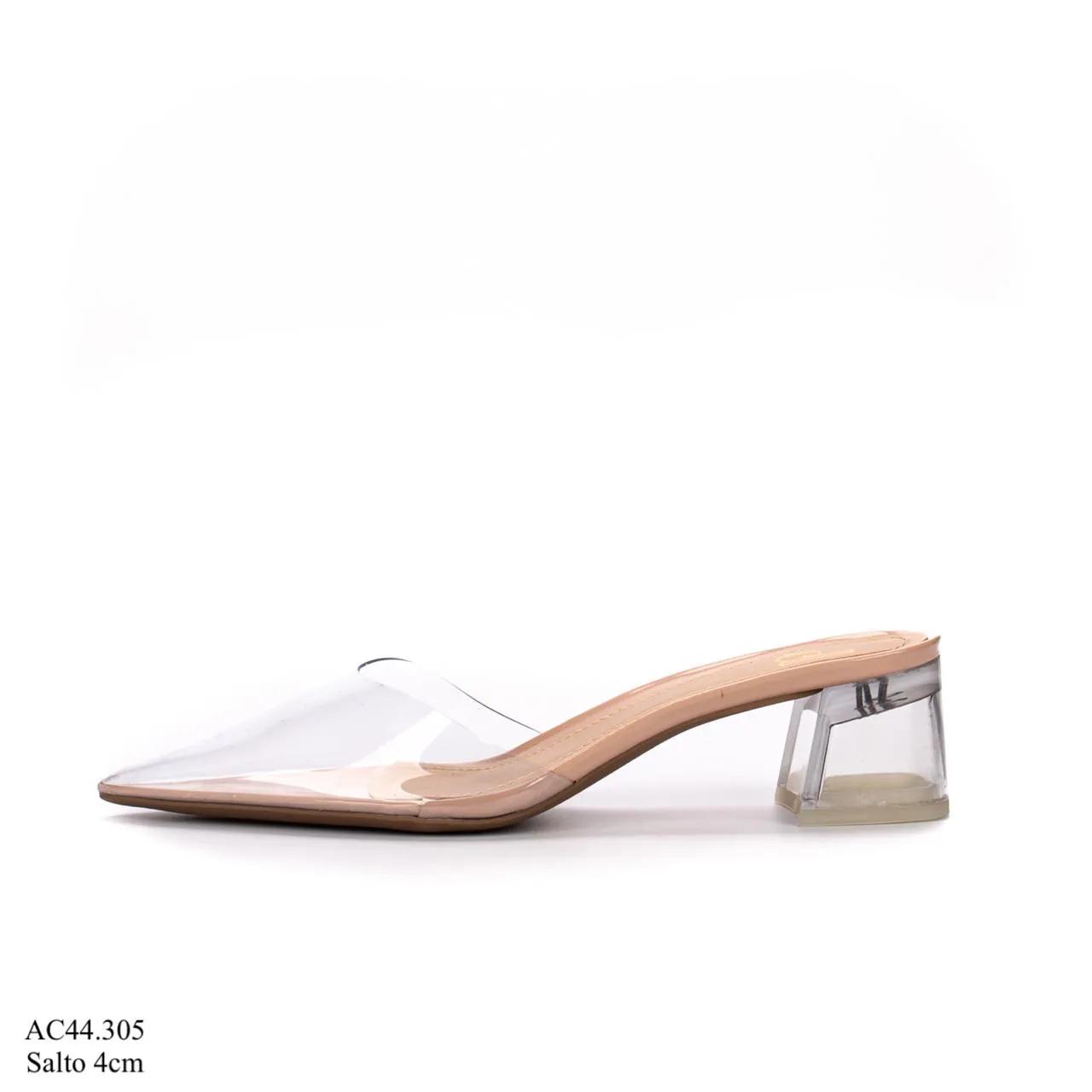 Scarpin Mule Salto Cristal VERNIZ ROSE| AC44.305