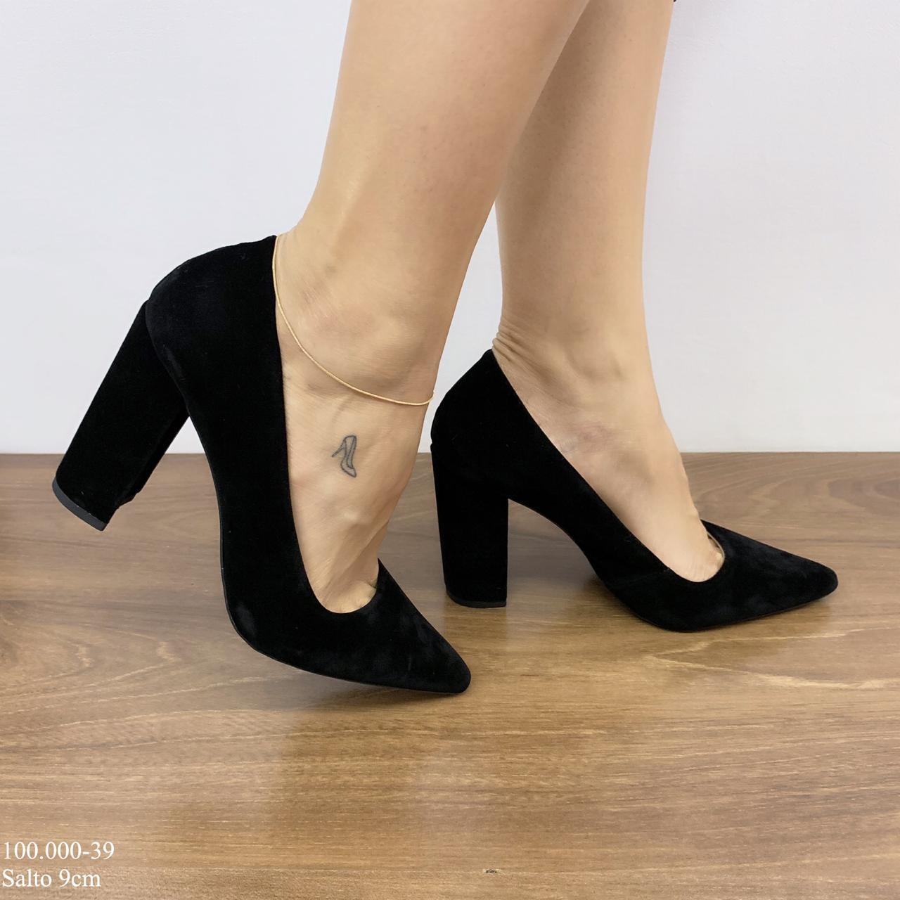 Sapato Scarpin Preto | D-100.000-39