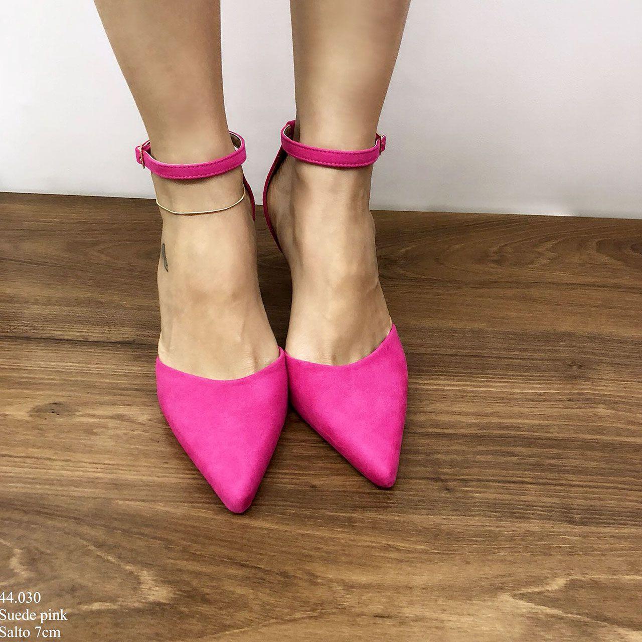 Scarpin Salto Médio Rosa | D-44.030