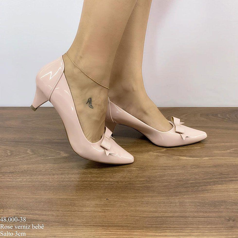Sapato Scarpin Rosa Bebê | D-48.000-38