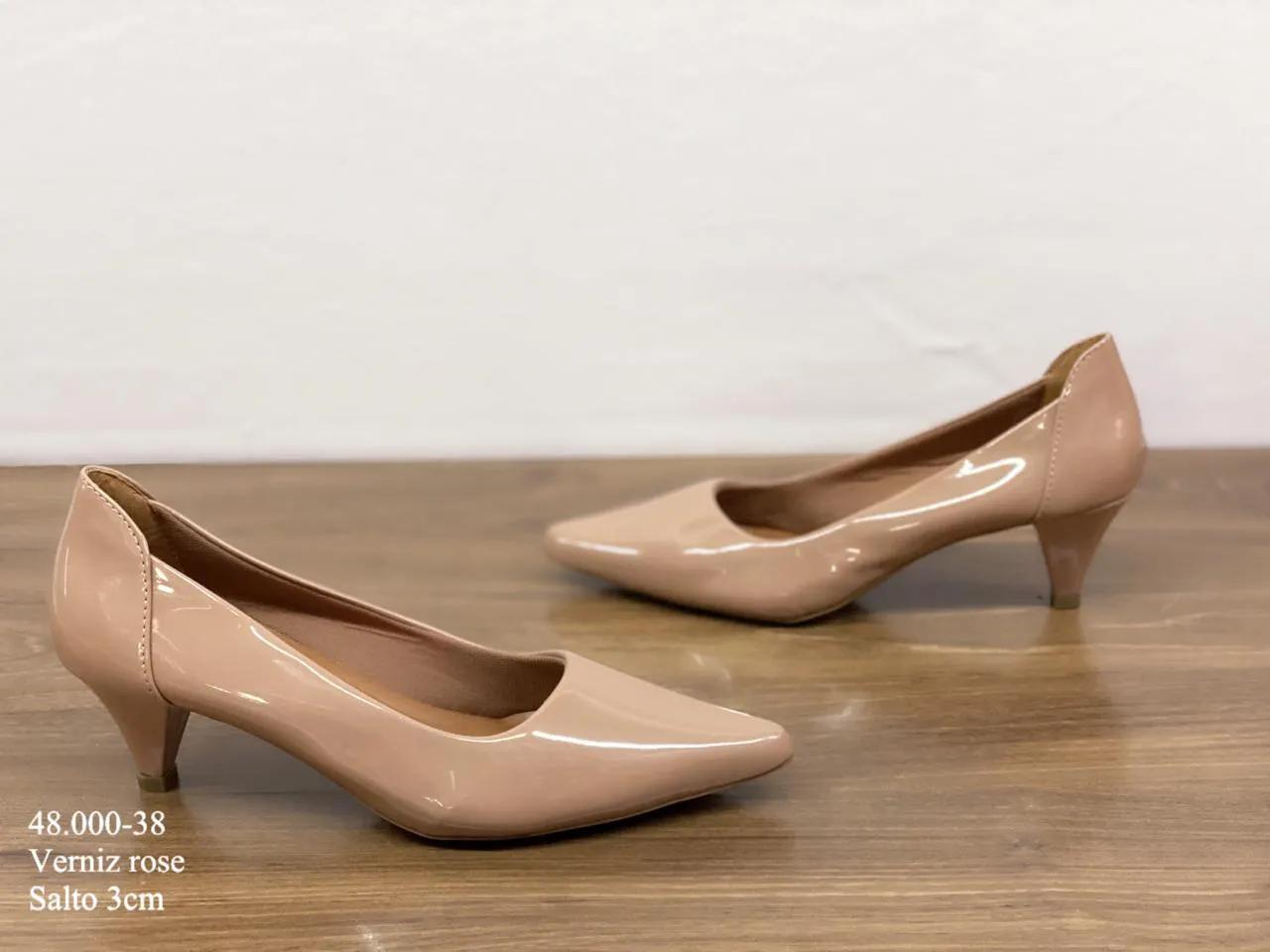 Scarpin Rose Verniz |D- 48.000-38