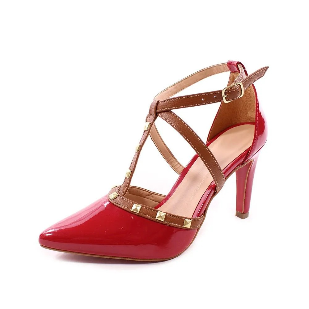Scarpin Valentino Sola Vermelha | D-1025