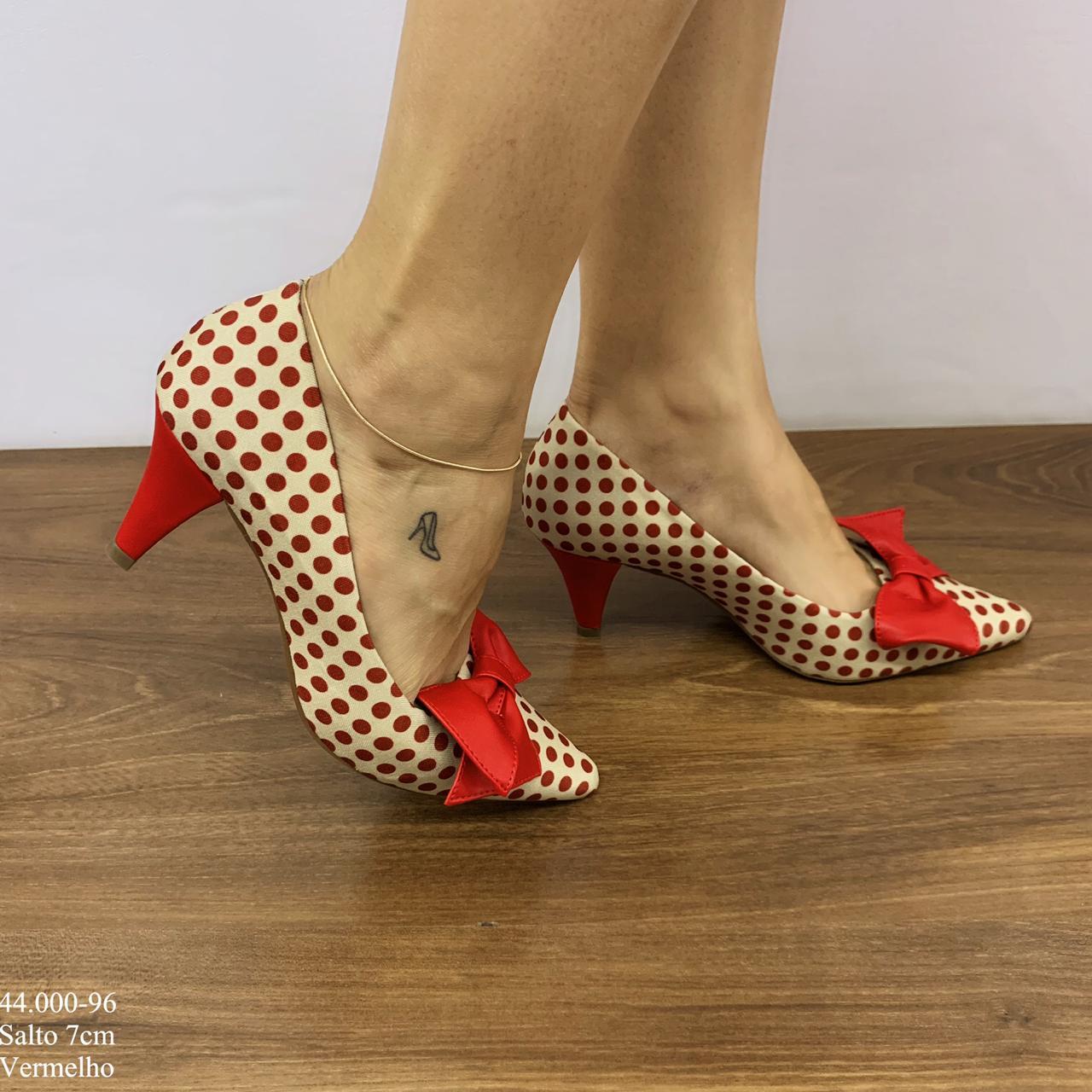 Scarpin Vermelho com Laço | D-44.000-96