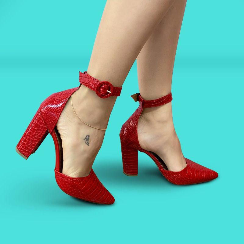 Scarpin Vermelho | D-100.030