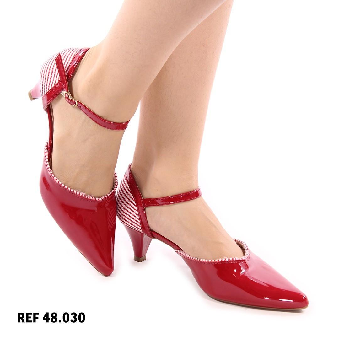 Scarpin vermelho e Branco | D-44.000-37