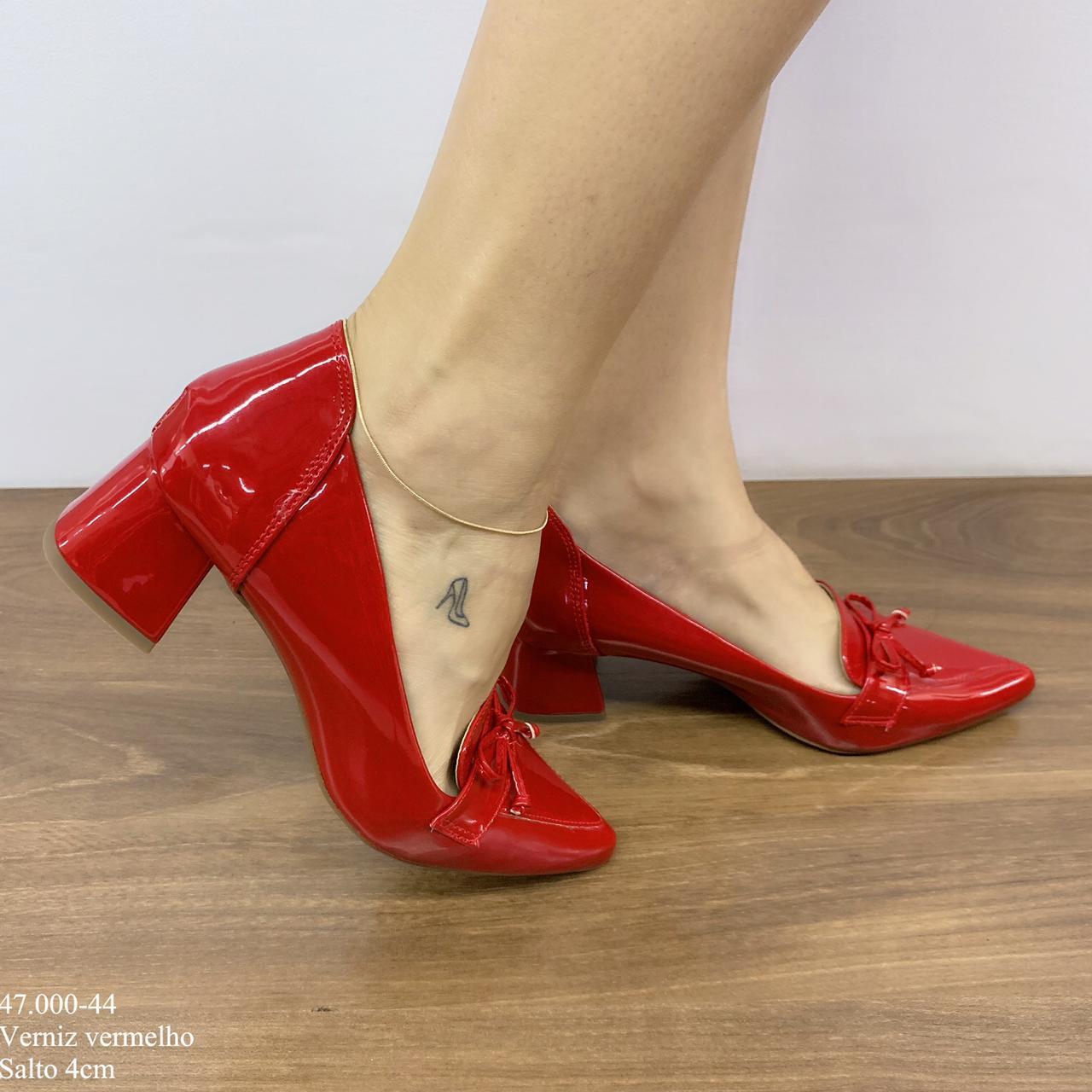 Scarpin Vermelho Verniz | D-47.000-44