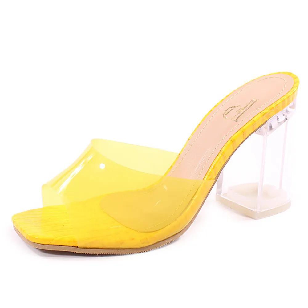 Tamanco bico quadrado (amarelo AC56.305)