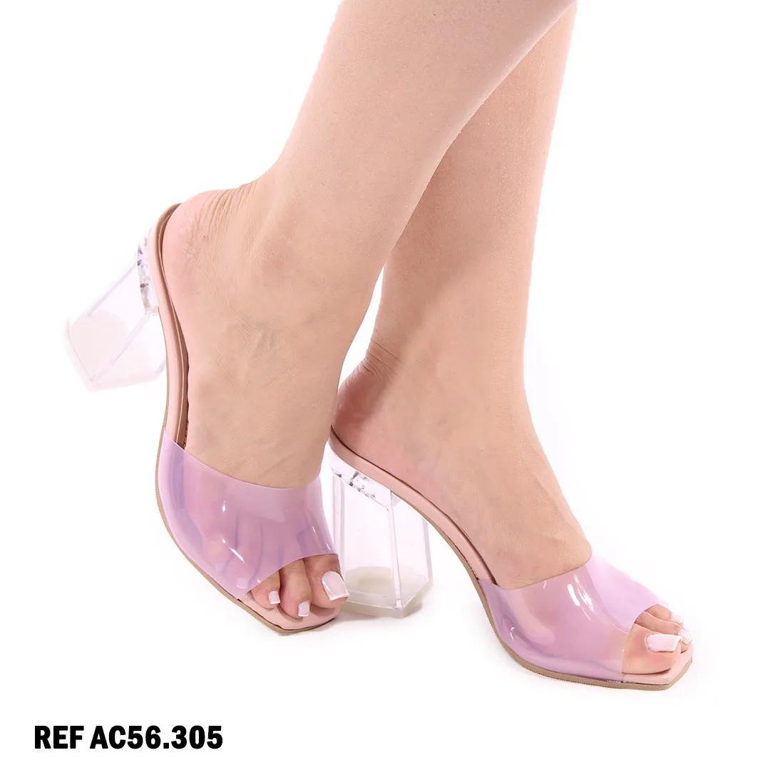 Tamanco bico quadrado (rose AC56.305)