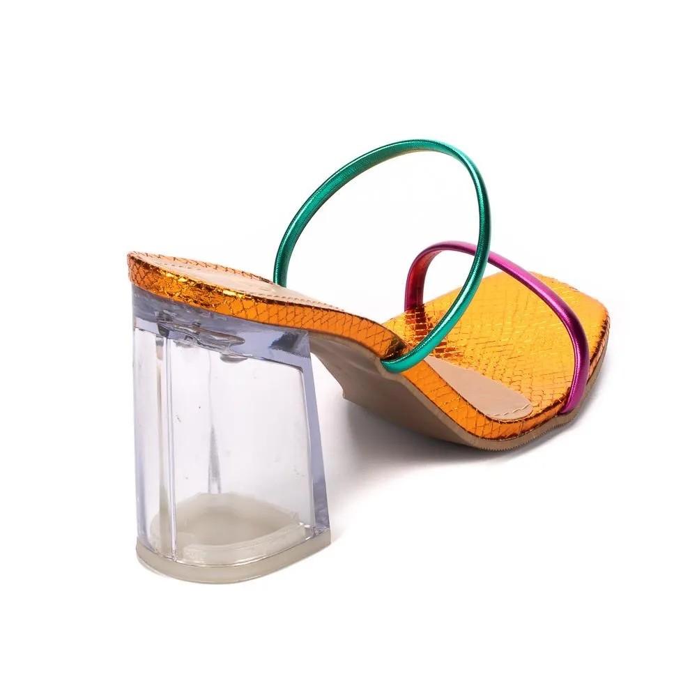 Tamanco Colorido Salto Cristal |  D-AC56-548