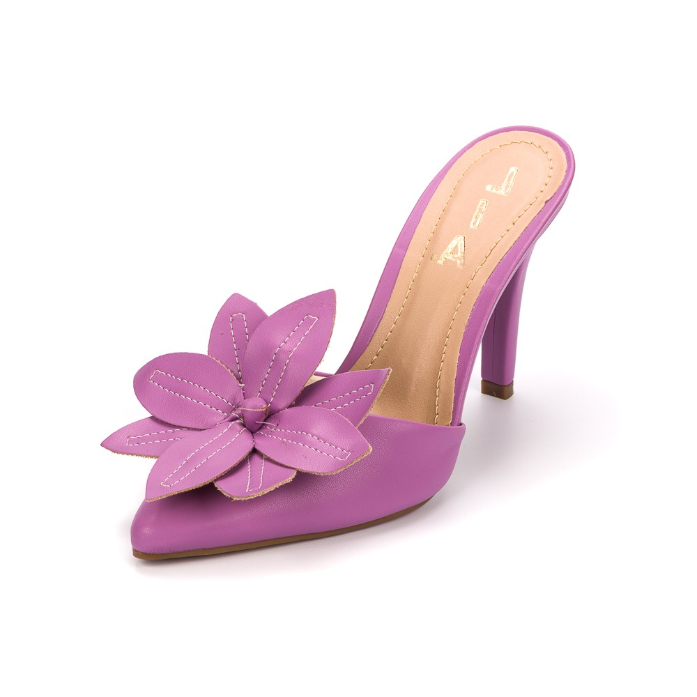 Tamanco Flower Bico Fino | D-2021