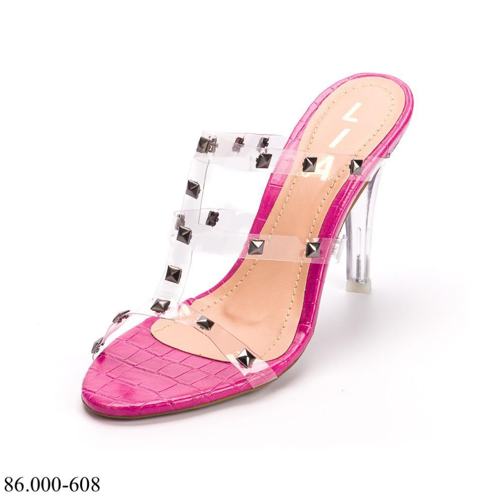 Tamanco Salto Alto Pink   D-86.000-608