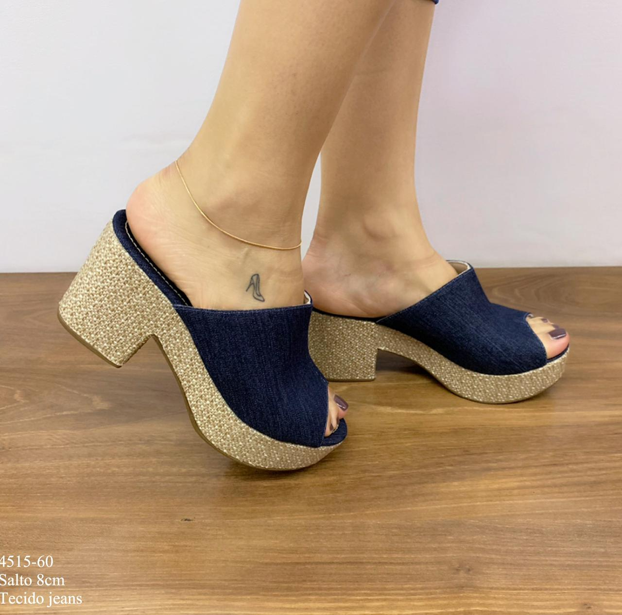 Tamanco Tecido Jeans | D-4515-60
