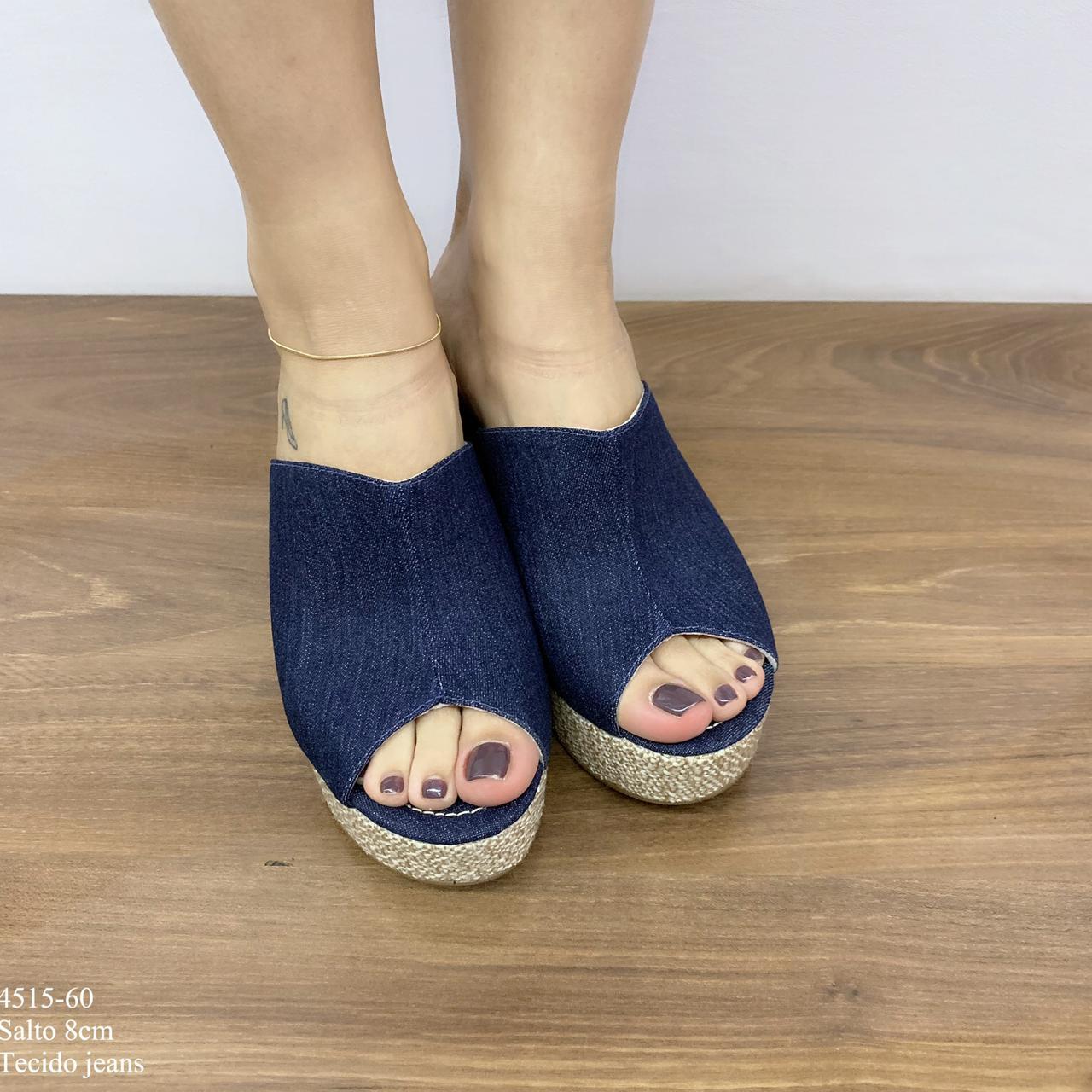 Tamanco Tecido Jeans |D-4515-60