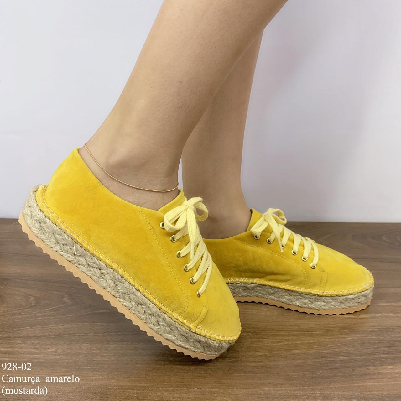 Tênis Camurça Amarelo | D-928-02