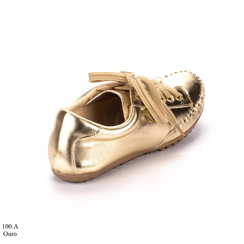 Tênis Feminino Dourado | D-100-A