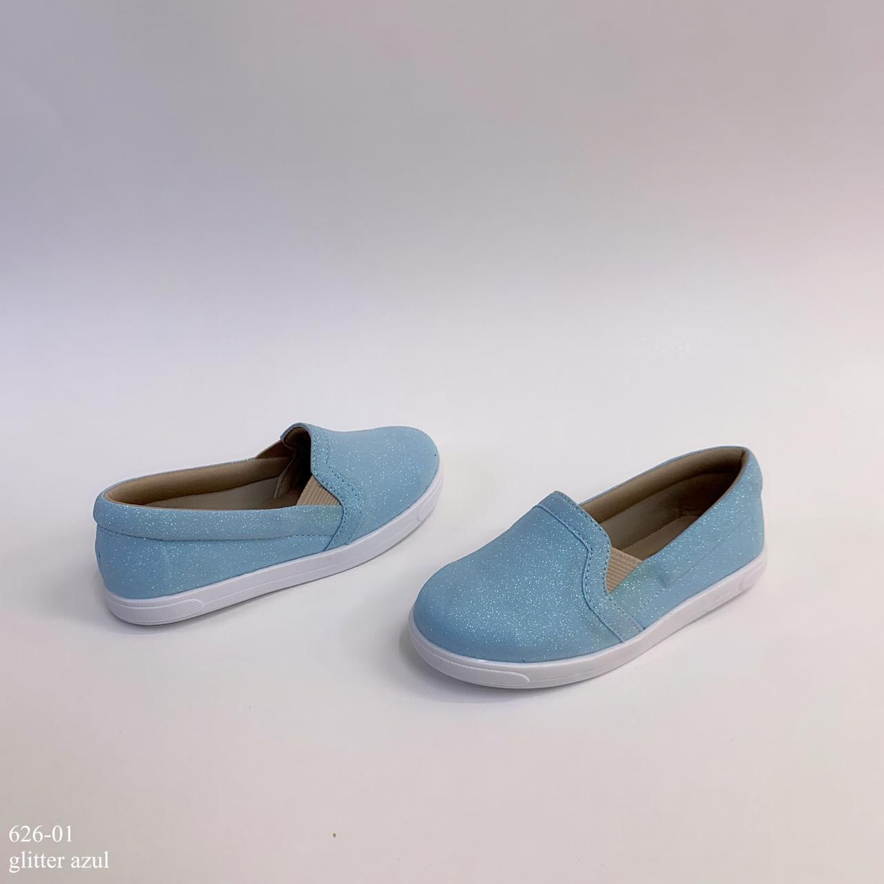 Tênis Mamãe & Filha Azul Glitter | D-626-01