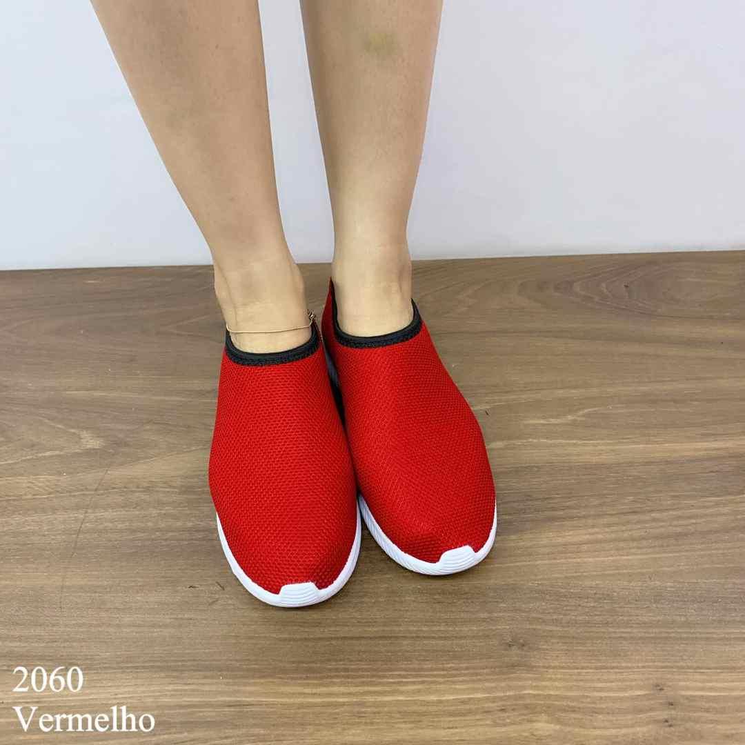 Tênis Vermelho Meia   D-2060