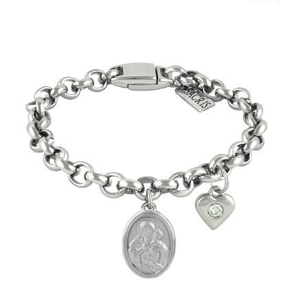 Cadeia Consagração Mãe Rainha Pingente Coração Corrente Nº 1
