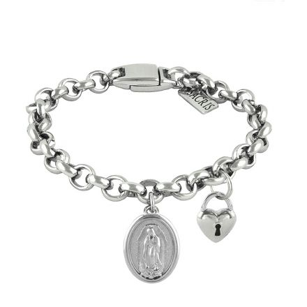 Cadeia Consagração Nossa Senhora de Guadalupe Pingente Cadeado Corrente Nº 1