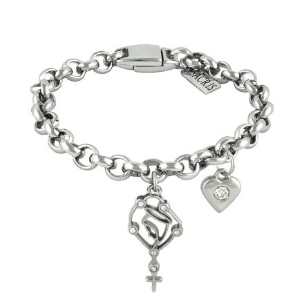 Cadeia Consagração Nossa Senhora do Rosário Pingente Coração Corrente Nº 1