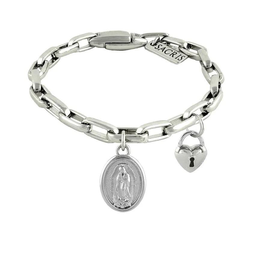 Cadeia Consagração Nossa Senhora de Guadalupe Pingente Cadeado Corrente Nº 2