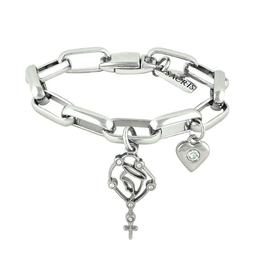 Cadeia Consagração Nossa Senhora do Rosário Pingente Coração Corrente Nº 3