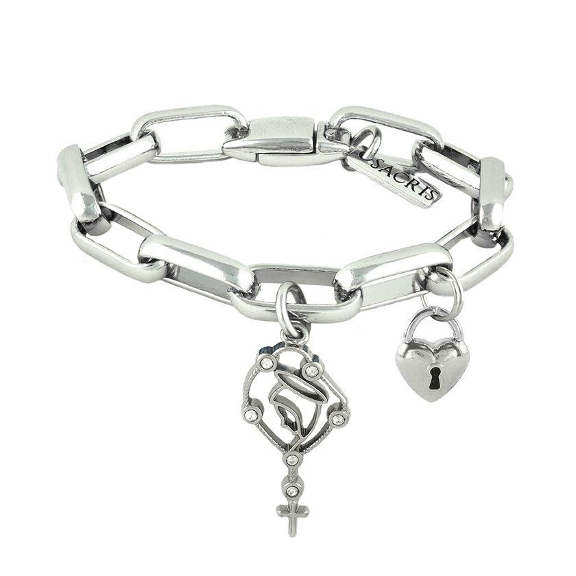 Cadeia Consagração Nossa Senhora do Rosário Pingente Cadeado Corrente Nº 3