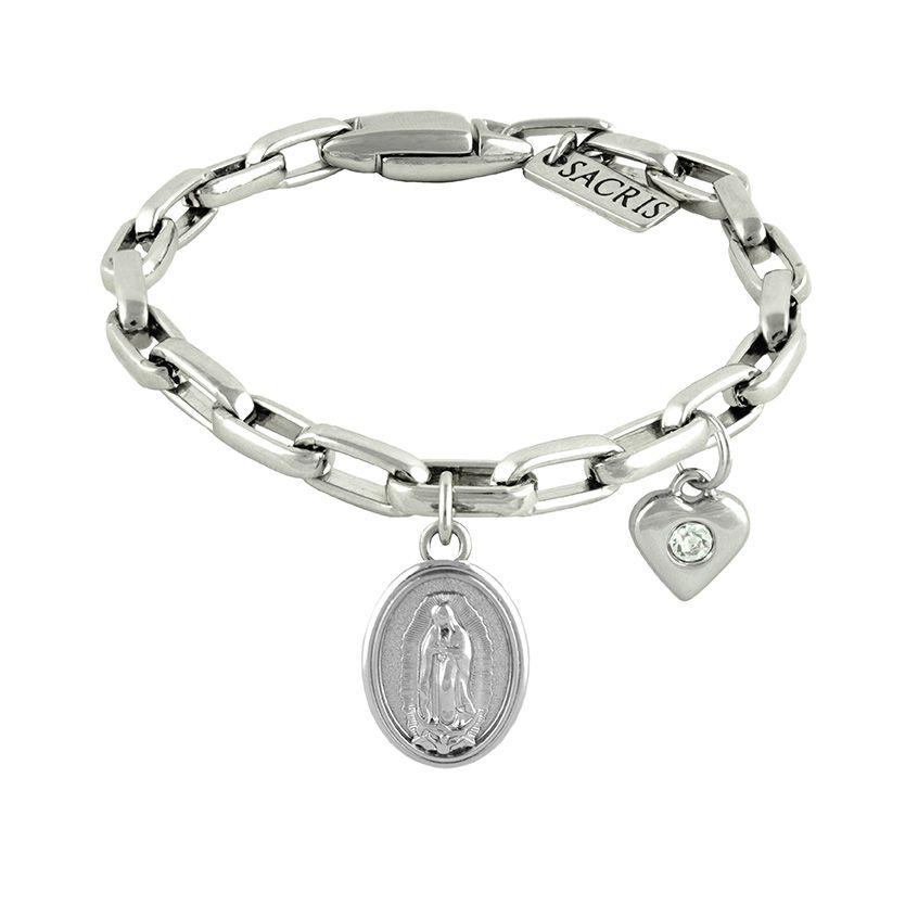 Cadeia Consagração Nossa Senhora de Guadalupe Pingente Coração Corrente Nº 2