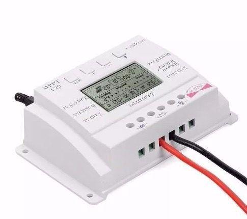 Controlador Solar PWM MPPT T20 - 20A 12V/24V Auto