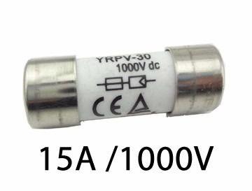 Fusível P/ Seccionadora DC 1000V / 15A 10X38 GPV