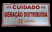 Placa Cuidado - Geração Distribuída - Padrão Copel - Relevo