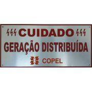 Placa Cuidado - Geração Distribuída - Padrão Copel