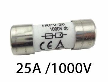 Fusível P/ Seccionadora DC 1000V / 25A 10X38 GPV