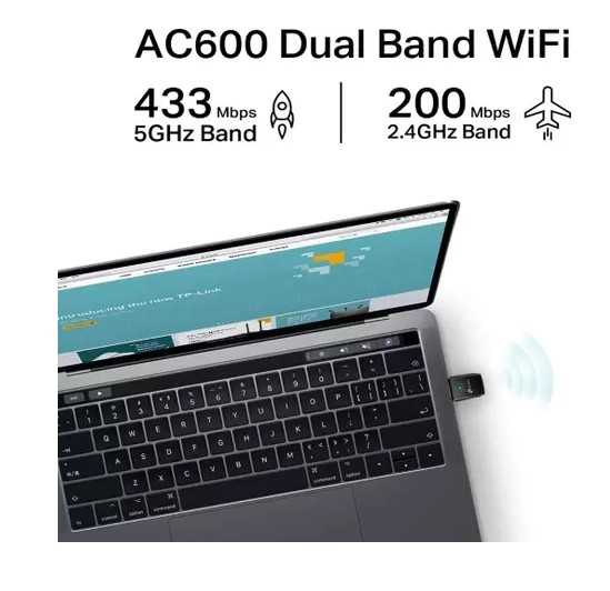 Adaptador Wireless TP-Link USB AC600 Archer T2U