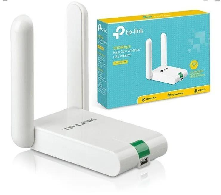 Adaptador Wireless USB 300Mpbs Tp-Link TL-WN 822N 2X Antenas
