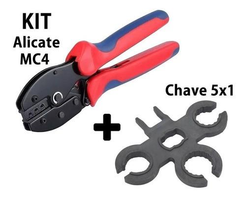 Alicate P/ Crimpar Conector MC4 + Chave Aperto MC4 5x1