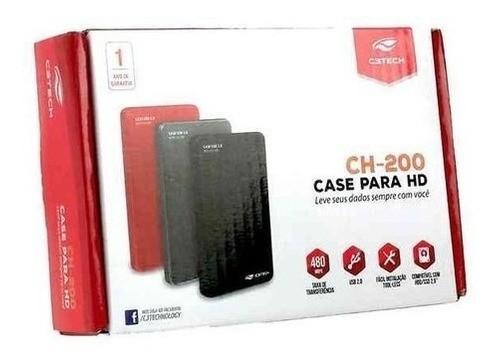 Case P/ HD 2.5 Externo CH-200 USB 2.0 C3TECH - Preto