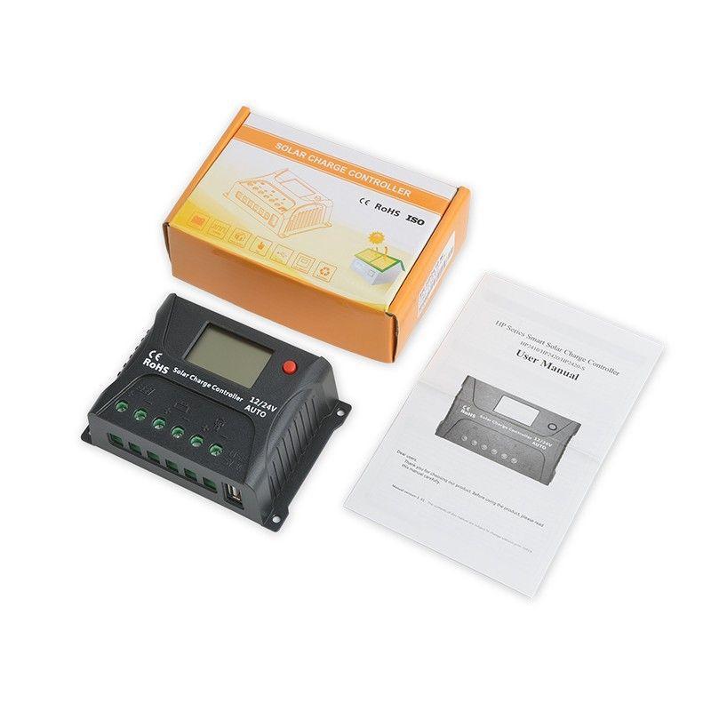 Controlador de Carga Solar 10A PWM SR-HP2410 12V / 24V - SRNE