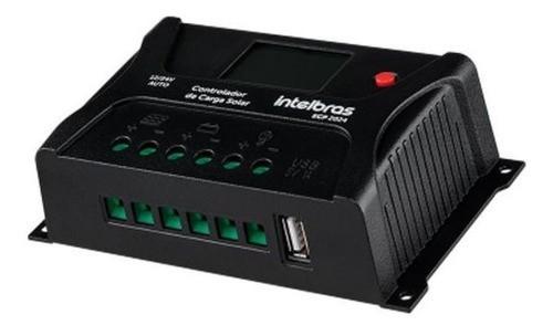 Controlador de Carga 20A PWM Intelbras ECP 2024 P/ Energia Solar Off Grid