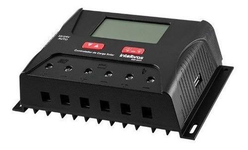 Controlador de Carga 30A PWM Intelbras ECP 3024 P/ Energia Solar Off Grid