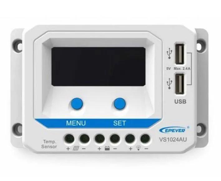 Controlador de Carga PWM 10A 12/24V Epever VS1024AU