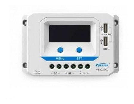 Controlador de Carga PWM 20A 12/24V Epever VS2024AU