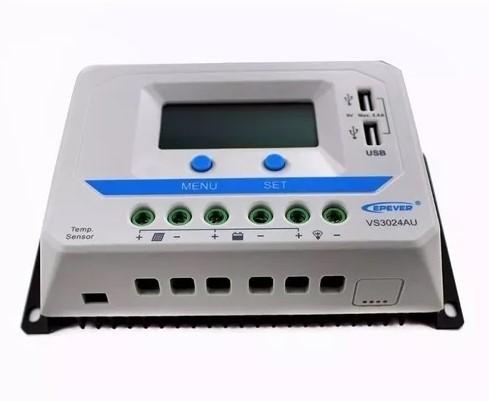 Controlador de Carga PWM 30A 12/24V Epever VS3024AU