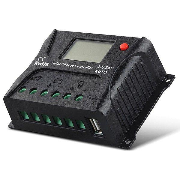 Controlador de Carga Solar 20A PWM SR-HP2420 12V / 24V - SRNE