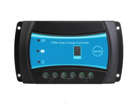 Controlador Solar PWM 10A 12V / 24V Auto