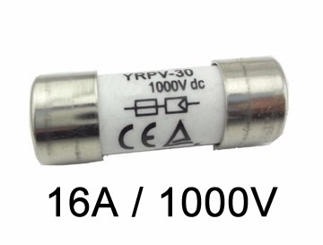 Fusível P/ Seccionadora DC 1000V / 16A 10X38 GPV C/ 10Un